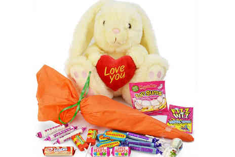 Mysweetyjar - Easter Bunny Toy & Sweet Bouquet - Save 46%