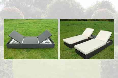 Garden Games & Leisure - Marbella Sun Lounger Set - Save 54%