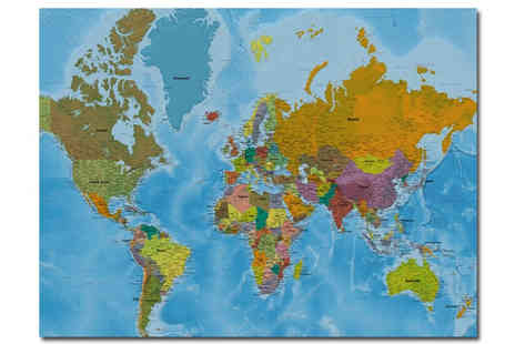 Artokay - Extra Large World Map - Save 47%