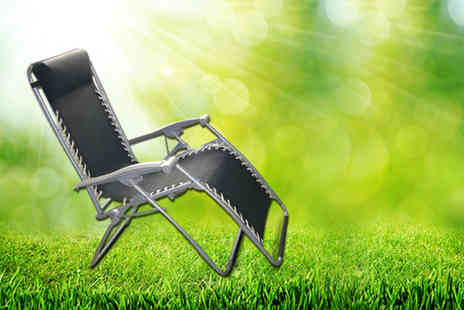 HTG Direct - Reclining garden chair lounger  - Save 60%