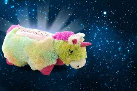 Once Upon a Company  -  Pillow Pets rainbow unicorn starlight projector pillow - Save 70%