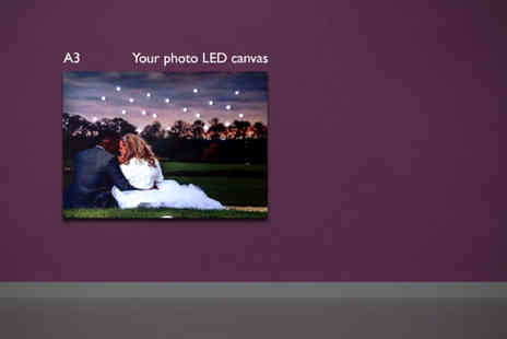 The LED Canvas Company  - personalised A3 LED canvas - Save 58%