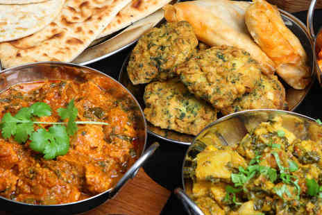 Red Fort - Starter and Main Course Each with Rice or Naan to Share and Wine for Two  - Save 57%