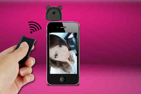 Aceco - Wireless selfie iPhone camera remote  - Save 74%