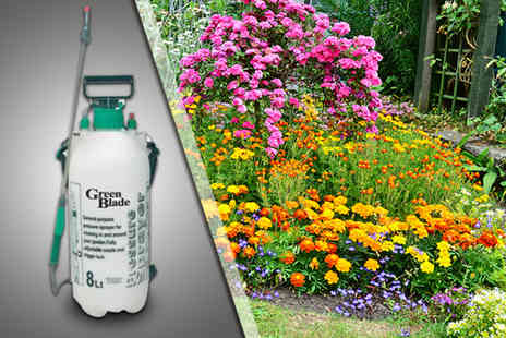 HTG Direct - Eight litre garden knapsack pressure spray for fertiliser, weed killer  - Save 50%