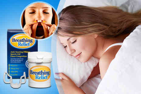 Breathing Relief - Nasal dilator for snoring relief - Save 55%