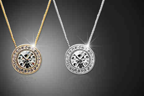Moonshine Boutique - Solitaire pendant with rhodium or rose gold plating - Save 74%