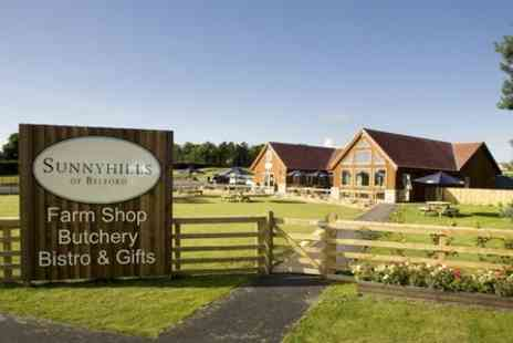 Sunnyhills Farm Shop - Stottie and Drink For Two  - Save 50%