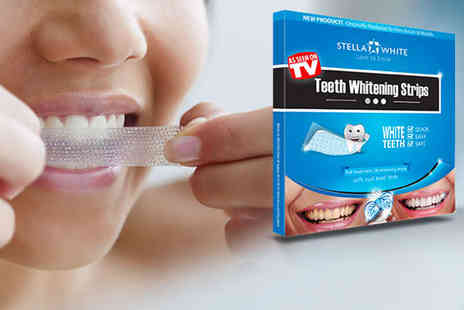 Stella White - Pack of 14 Teeth Whitening Strips, Including Delivery - Save 77%