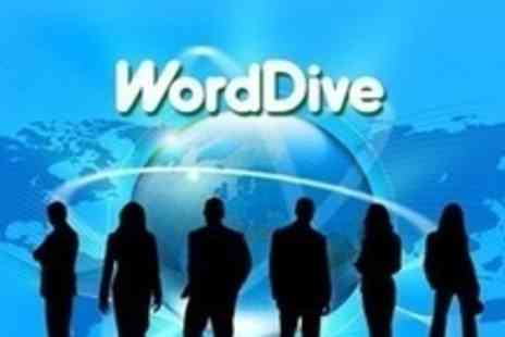 WordDive - 12 Months Access to Choice of Online  Language Course - Save 80%