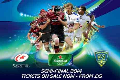 Rugby Football Union - Heineken Cup Semi Final Saracens v ASM Clermont Auvergne - Save 33%