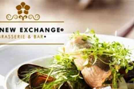 The New Exchange - Bistro Dinner For Two With Wine - Save 60%