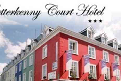 Letterkenny Court Hotel - Two Night Break For Two With A Drink at The Bar - Save 80%
