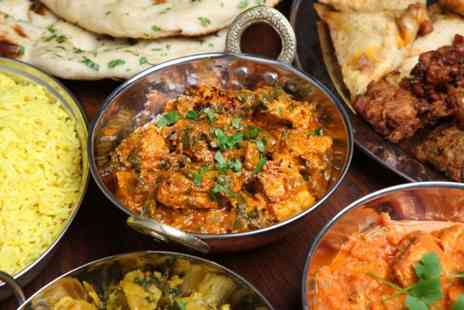 Indian Cottage - Two course Indian meal for 2 including starter, main and rice or naan - Save 62%