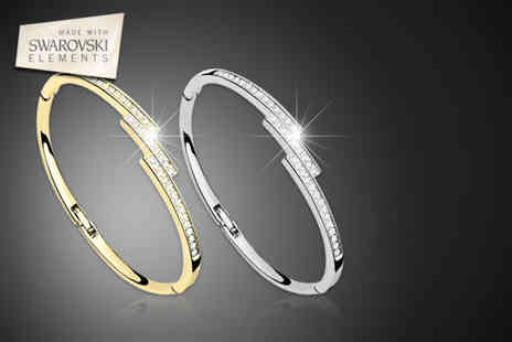 Moonshine Boutique -  Swarovski Elements Vertex bangle in your choice of colour - Save 80%