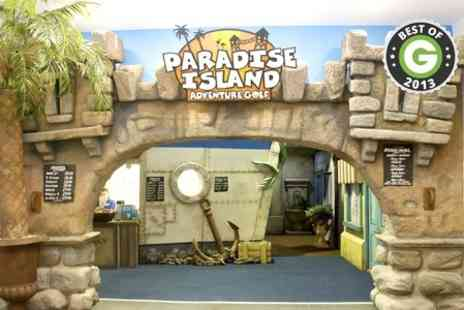 Paradise Island Adventure Golf Sheffield -  18 Holes For Two  - Save 50%