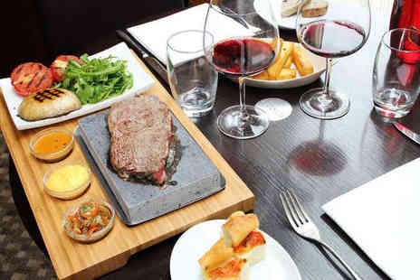 Number Twelve Restaurant - Artisan Bread Starter Hot Stone Steak with Chips and Sauce, a Glass of Prosecco, and Tea or Coffee for Two People - Save 50%