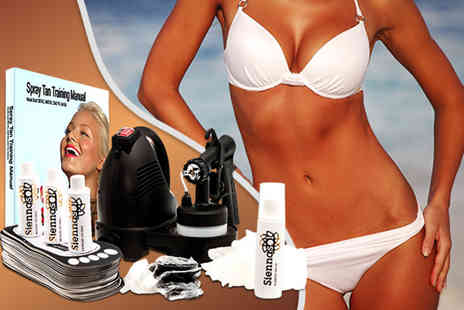 Sienna Sol - Home spray tanning kit including 24 piece accessory set - Save 50%