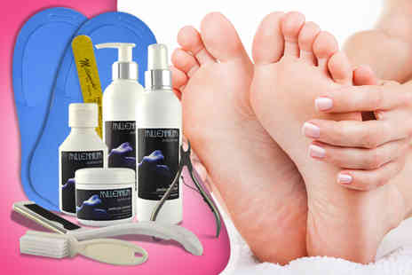 Millennium Nails - Pedicure kit including lotion flip flops nail brush file  - Save 79%