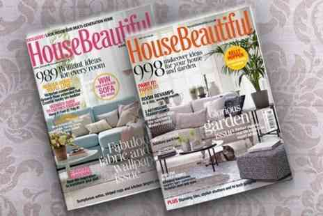 Hearst Magazines - 12 Month House Beautiful Magazine Subscription  - Save 63%