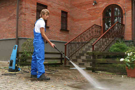 Swabbers Cleaning - Power Cleaning for 20 Meters worth of Outside Space Including Patios Driveways, or Decking - Save 79%