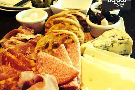 The Liquor Store - Glass of Wine Each and Deli Board to Share Between Four People - Save 50%
