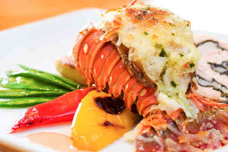 The Lobster House - Half a Lobster, Fries, Salad, and a Glass of Wine for Two - Save 54%