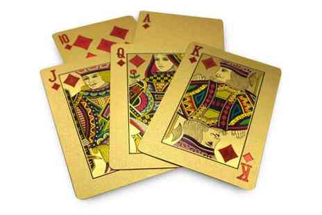 Trading Post Products - 24k Gold Plated Playing Cards - Save 69%