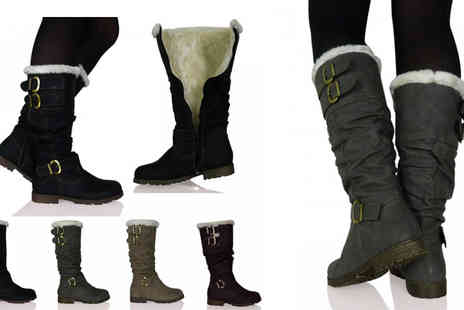 by public demand - Neveah Mid Calf Boots - Save 33%