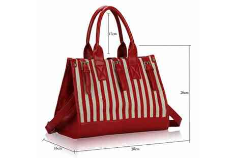 Global Essentials - Candy Stripe Satchel Bags