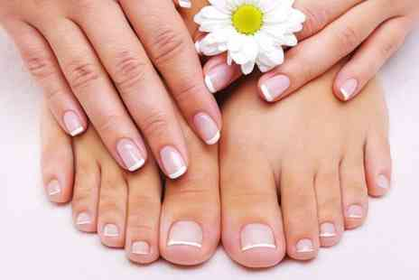 Beauty at Inches - Back Massage With Manicure and Pedicure  - Save 52%