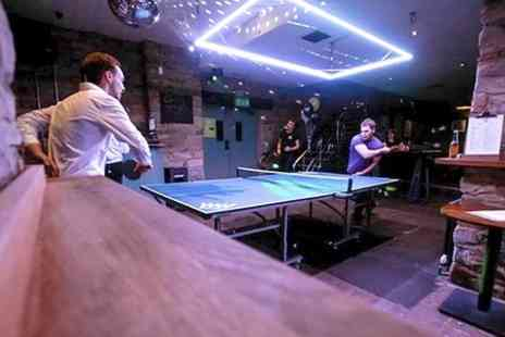 Wiff Waff - One Hour of Ping Pong With Pizza and Beer For Two - Save 65%