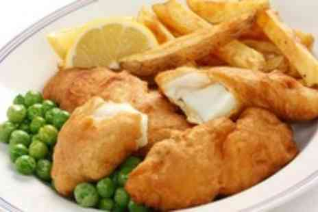 The Telford Arms - Fish & chips Plus tea or coffee for Two - Save 60%
