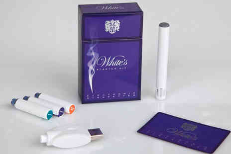 Whites Electronic Cigarettes - E Cigarette Starter Kit Including 3 Refills - Save 56%