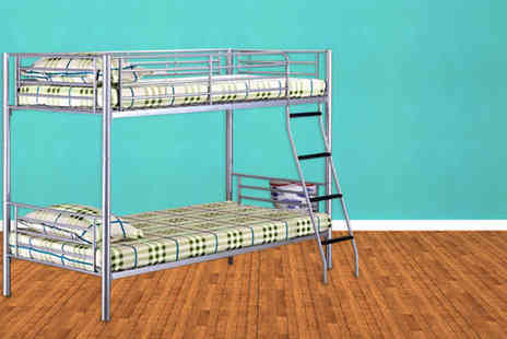 Einfeld - Gloss silver bunk bed - Save 52%