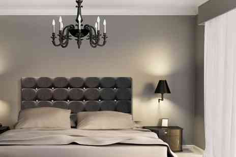 Bed Monkey - Black brown or white faux leather and diamante headboard - Save 79%