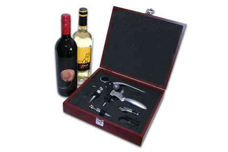 Global Phoenix Computer Technologies - 9 Piece Wine Accessory Corkscrew Set - Save 67%