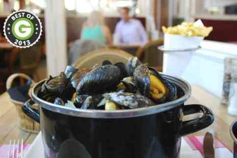 Falmouth bay seafood cafe - Moules Frites With Prosecco For Two  - Save 50%