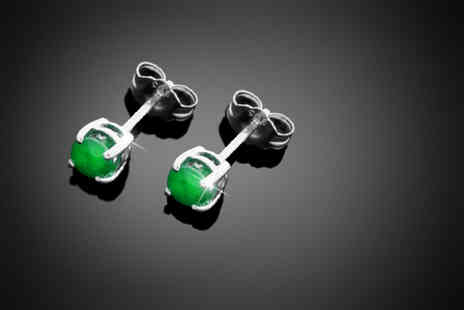 Jewellery Connection - Pair of May birthstone 0.5 carat emerald stud earrings - Save 71%