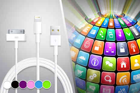 Links 4 - Three metre 30 pin or 8 pin Lightning iPhone data and charging cable - Save 58%