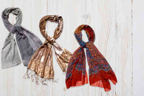 Beautiful Bra Boutique - Indian silk fashion scarf in a choice of 3 designs - Save 78%