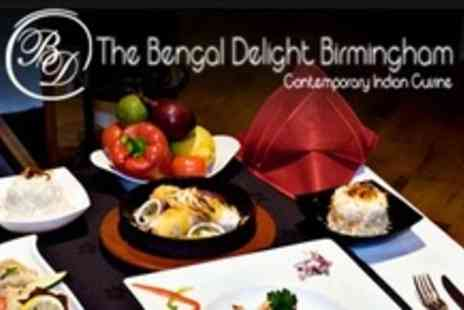 Bengal Delight Birmingham - Two Courses of Contemporary Indian Cuisine For Four - Save 60%