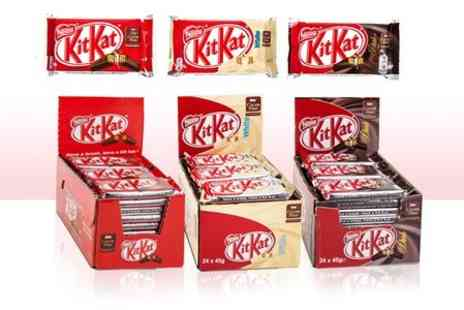 My Planet Online - 24 Nestle Kit Kat Four Fingers in Milk, Dark or White Chocolate - Save 50%
