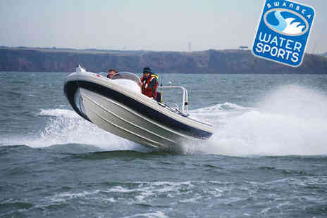 Swansea Watersports - Power Boat and Coasteering Experience - Save 72%