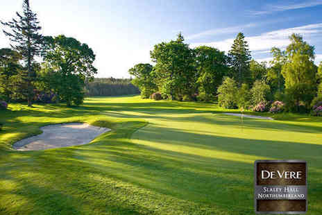 Slaley Hall - 18 Holes of Summer Golf with 100 Driving Range Balls for One - Save 75%
