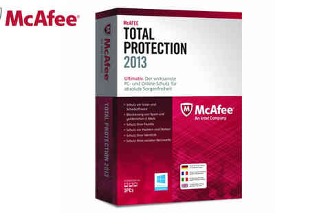 TV and More - McAfee Total Protection 2013 3 User Licence - Save 77%