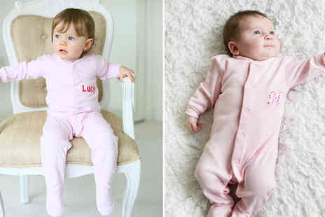 Tey boutique - Personalised Babygrow for Newborns to 24 Months - Save 52%