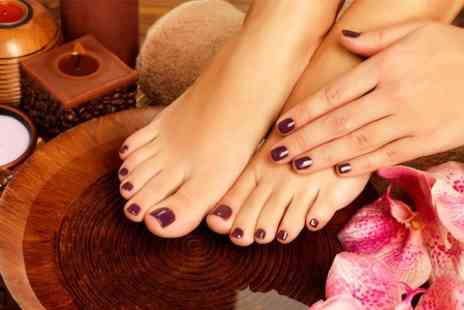 Couture Nails - Shellac Manicure  with hand massage - Save 60%