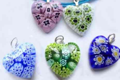 OneTouchTrade - Certified Murrino Glass Heart pendant  - Save 50%