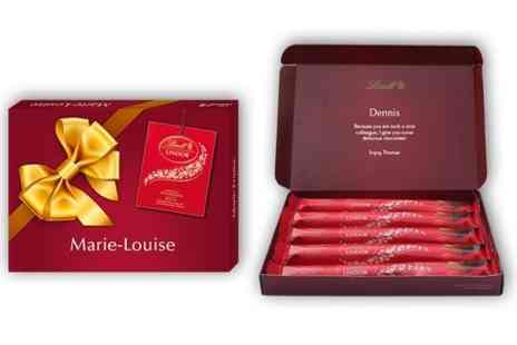 Personalgifts - Personalised Lindt Lindor Chocoloate Box - Save 30%